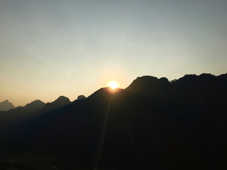 Sunset in Vang Vieng, Laos
