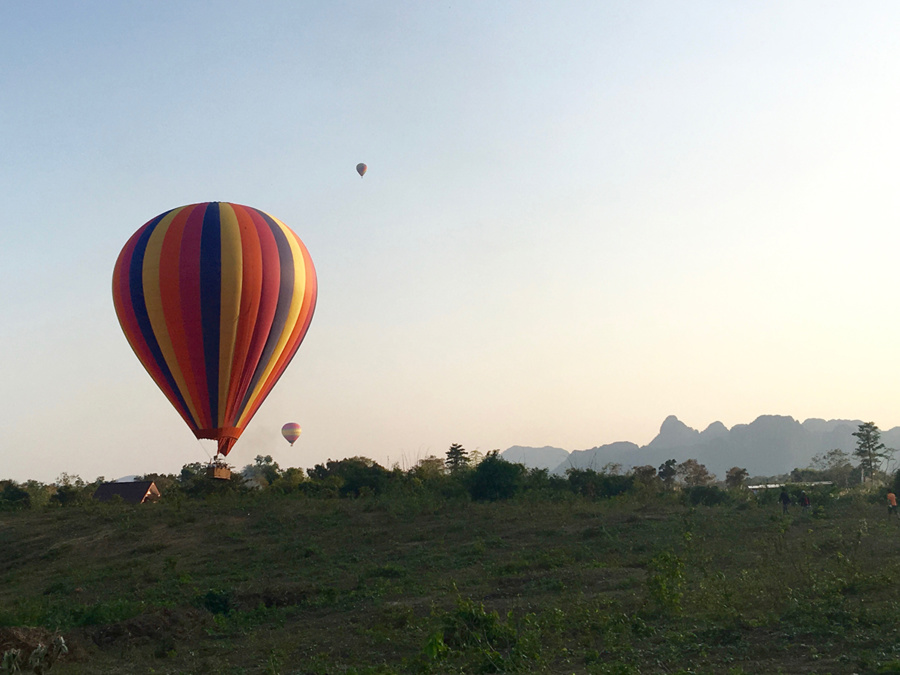 Hot Air Balloon in Vang Vieng, Laos