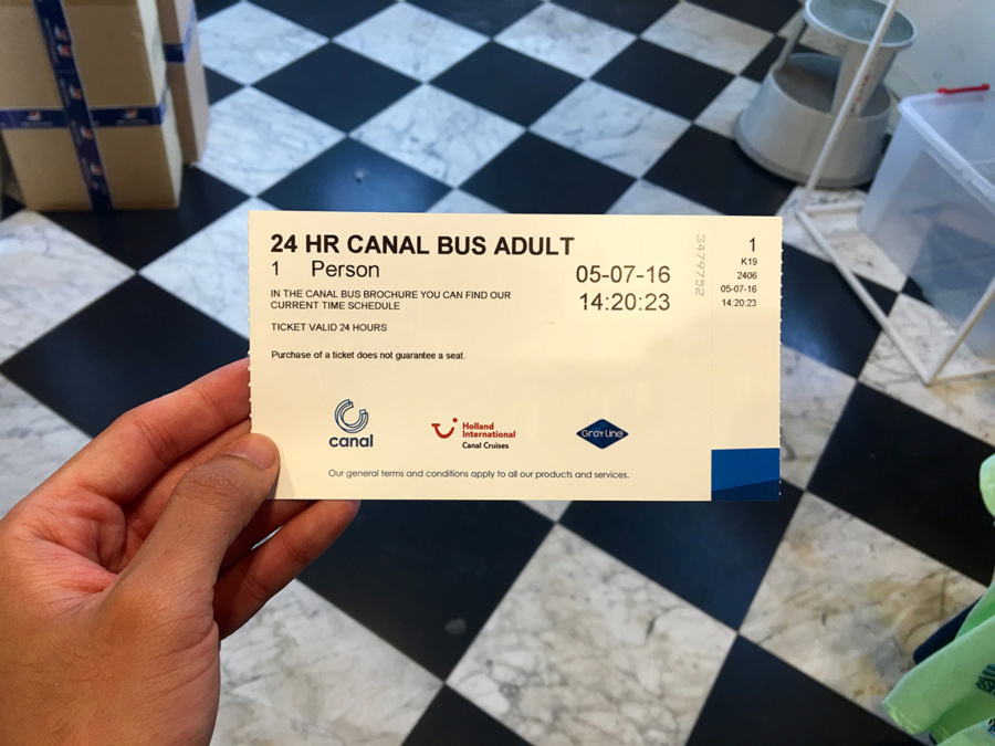 Canal Bus Ticket