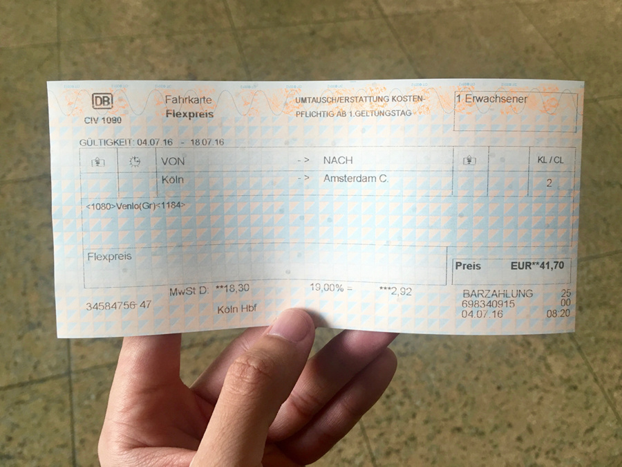 Ticket to Amsterdam