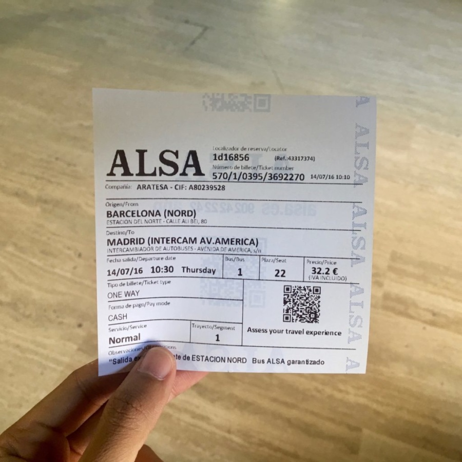 ALSA Bus Ticket
