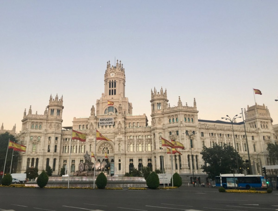 La Plaza de Cibeles in Madrid