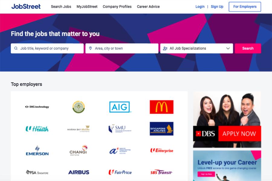 JobStreet | websites for finding jobs in Singapore